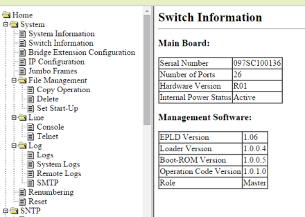 tp003 switchinfo